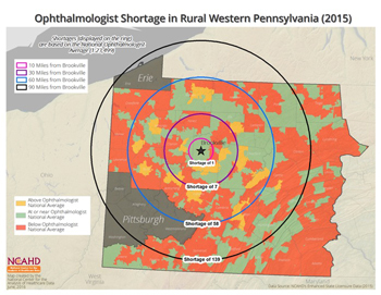 Ophthalmologist Shortage in Rural Western Pennsylvania (2015)