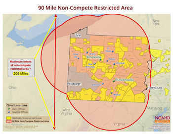 90 Mile Non-Compete Restricted Area