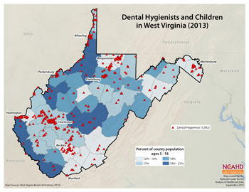 Dental Hygienist and Children in West Virginia (2013)