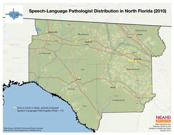 Speech-Language Pathologist Distribution in North Florida (2010)